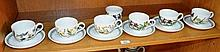 Set of 6 Portmerion coffee cups and saucers