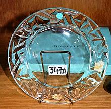 Tiffany & Co German crystal plate, moulded design