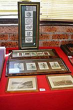 5 various frames containing various vintage