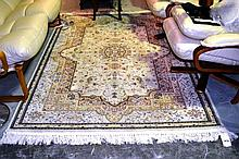 As new machine made Turkish rug, classic design