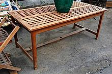 Teak lattice effect garden extension table,