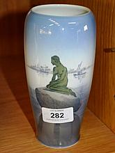 Royal Copenhagen porcelain vase, 'Little Mermaid'