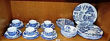 Coalport dinner & tea service, Blue Willow