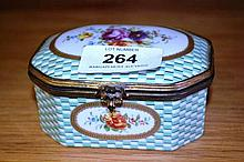 European porcelain trinket jar with hand painted
