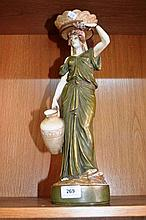 Amphora, Czechoslovakian figurine of a maiden with