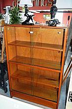 Vintage bookcase display cabinet, 2 pairs of glass