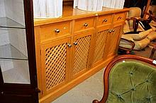 Matching 4 door 4 drawer cabinet, lattice front