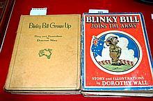 Collection of 4 vintage Blinky Bill books by