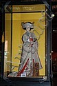 Japanese geisha doll  &  a glazed display case