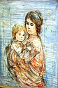 Edna Hibel, lim/ed print 'Stephanie & Child', 93 x