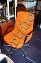 Modern office chair, orange upholstered