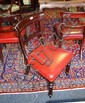 6 x 19th Century mahogany dining chairs bar backs