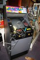 Standing arcade game, free play mode, comprising 4