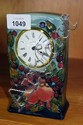Moorcroft pottery cased clock 'Finches' pattern