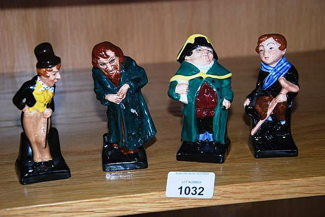 Collection of 4 Royal Doulton Dickens figurines