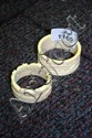 2 ivory napkin rings, one carved with elephants