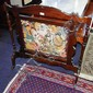 Vintage firescreen with hand worked tapestry inset