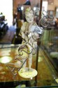 A Japanese carved ivory & bone man in tradtional