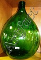 Extremely large green glass bottle/terrarium 64cm