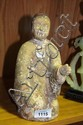 Chinese terracotta seated figure, pigment traces