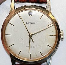 Vintage Gent's Rolex 9ct gold cased dress watch,