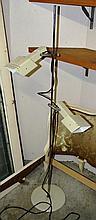 Retro twin branch adjustable standard lamp, bears