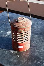 Original red painted galvanised workman's