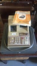 Sharp electronic cash register with key & manual