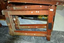 Pair of rare STS branded timber trestles
