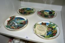 4 Royal Doulton collector's gallery edition plates incl. 'The Jungle Book' series