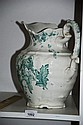 English made Johnson Bros green & white wash jug,