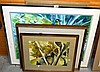 5 various pictures incl. 2 pastels, 1 by Elayne