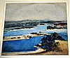 Margaret Coen, watercolour, river estuary view,
