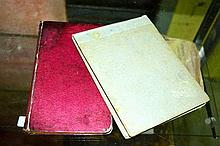 2 vintage notebooks each containing a collection