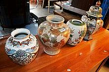 Collection of 4 various Chinese pottery vases
