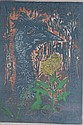 John Taylor, coloured linocut 'Emu' no. 7 of 7,