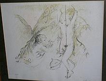 Arthur Boyd lithograph, 'Mystical Figures' 33/75