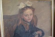 Sabine Lepsius German artist, (1864-1942) oil on