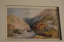 H. McDonald, Scottish watercolour, showing a river