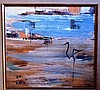 Tor Holth oil on board 'Waterbird V', signed with