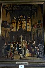 Henry Schaeffer oil on board 'Cathedral Amiens'