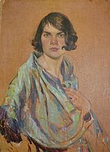 Lancelot Roberts, oil on canvas, portrait of a