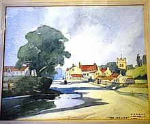 Norman Campbell watercolour 'The village' signed