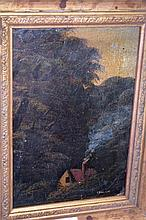 C. Fox oil on canvas, mounted on board, a colonial