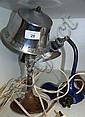 2 Vintage rustic industrial lamps, 1 desk, 1 table