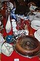 Various sundries incl. decanter, chamber pot,
