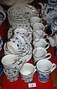 Churchill part dinner service, plates, bowls, mugs