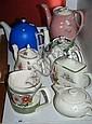 6 Various coffee and tea pots plus a Sadler