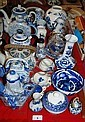 Large quantity of blue and white porcelain incl.