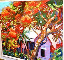 John Millington oil on canvas board 'Queensland